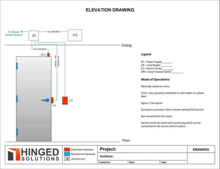 wire elevation drawing